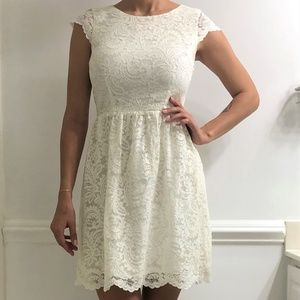 Gianni Bini Off white lace dress.